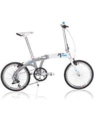 Kansi 20 9twenty 9 Speed Folding Bike White Grey Custom