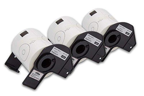 vhbw 3x Rotolo Etichette Adesive per CD/DVD Set per Brother P-Touch QL-1050, QL-1050N, QL-1060, QL-1060N, QL-500, QL-500A, QL-500BS come DK-11207.