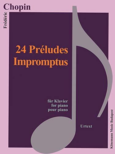 Partition - Chopin - 24 Préludes, Impromptus - pour piano par Frederic Chopin