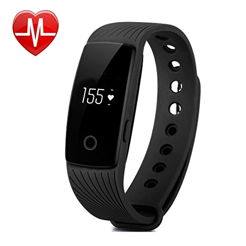 Willful Bluetooth pulsera de seguimiento de actividad Fitness pulsera inteligente con monitor de sueño podómetro contador de calorías alarma reloj llamada sms notificación muñeca Sensor remoto de la cámara para iPhone iOS Android