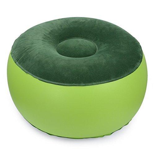 Luftsessel, langlebig, Balance, tragbar, Campingstuhl, aufblasbarer Hocker, Fußstütze, Kissen, für Zuhause, Büro, Yoga, im Freien