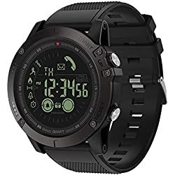 Montres Smart bracelet, VIBE3 imperm¨¦able ¨¤ l'eau podom¨¨tre cam¨¦ra Bluetooth montre intelligente pour Android iOS-noir