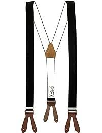 Xeira  - Bretelles - Uni - Homme noir/marron XXXL-140 cm