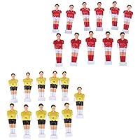 0f0623651d Baoblaze 22 Piezas de Muñecas de Reemplazo de Futbolín de Mesa Football Men  Rojo y Amarillo