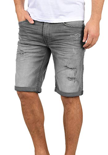 Blend Deniz Herren Jeans Shorts Kurze Denim Hose Mit Destroyed-Optik Aus Stretch-Material Regular Fit, Größe:M, Farbe:Denim Grey (76205)