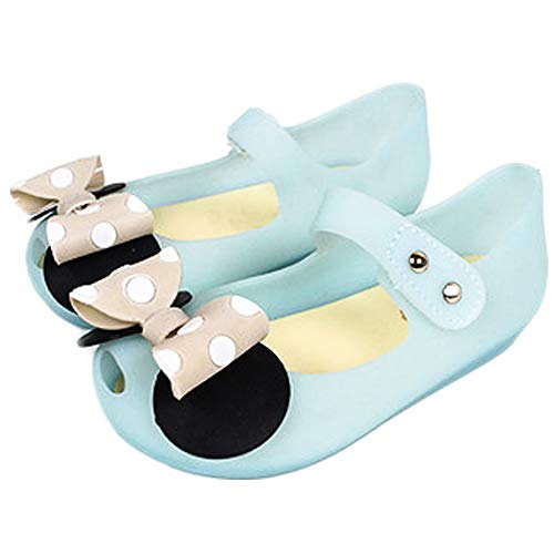 CQDY Mädchen ELSA Schuhe Prinzessin Verkleiden Sich Mädchen Phantasie Prinzessin Schuhe für Halloween Cosplay Party Geburtstag (23 EU, Blau Minnie Schuhe)