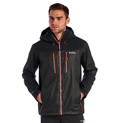 Regatta Herren Cross Penine Waterproof Jacke RRP £85 Black