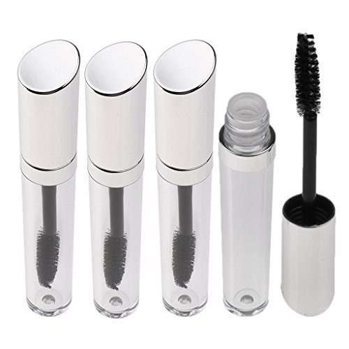 Sharplace 4pcs 5ml Tube Mascara Vide en Plastique Bouteille Flacon Transparent de Croissance de Cils Parfum Huile Essentielle Rempliçable et Réutilisable avec Brosse