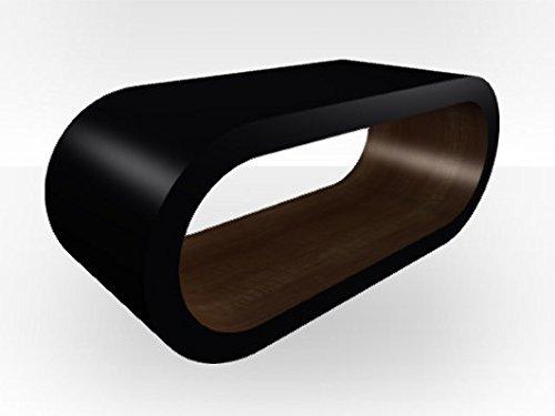 Esterno nero Extra Grande tavolino da caffè a cerchio noce (Noce Ovale Tavolino)