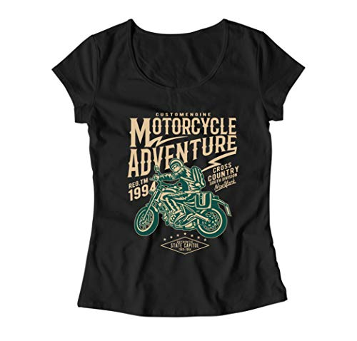 Cross-country-t-shirts (Motorcycle Adventure Cross Country South Division Damen T-Shirt - Schwarz - X-Large)