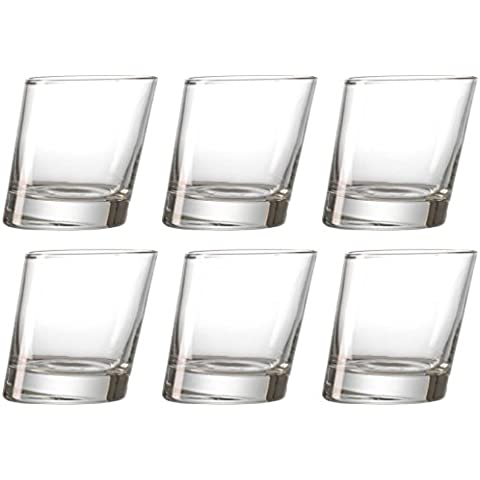 idea-station Pisa bicchieri da whisky 6 pezzi, max. 280 ml trasparente, 6 pezzi whisky coppa singolo Borbone bicchiere di vetro Imposta come bicchieri d'acqua, bicchieri da cocktail, bicchieri tumbler utilizzati