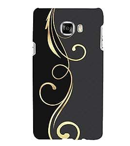 PrintVisa Designer Back Case Cover for Samsung Galaxy C5 SM-C5000 (art season star pattern disks)