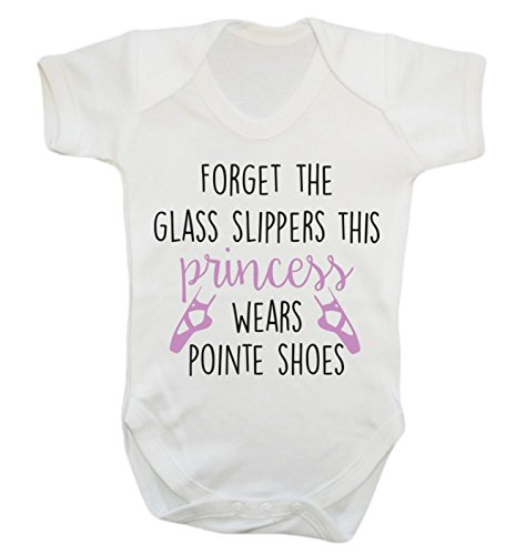 Forget the glass slippers this princess wears pointe shoes baby vest bodysuit babygrow
