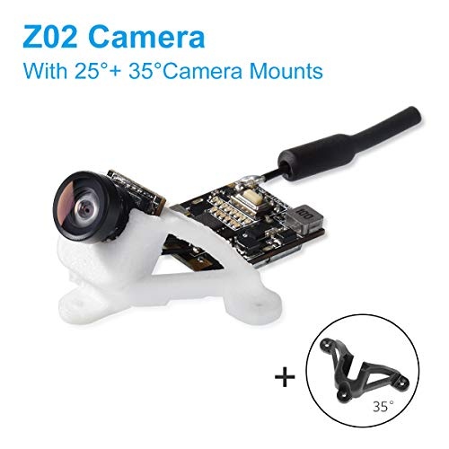 BETAFPV Z02 AIO Camera 5.8G VTX 25mW 200mW Switchable Transmitter with 25° and 35°Camera Mount Support OSD SmartAudio for Tiny Whoop Racing Drone Beta75X etc (Wire-Connected Version) -
