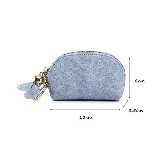 CLOTHES- Sacchetto di monete della borsa della moneta della borsa della moneta della borsa della borsa delle signore delle borse Giappone e Corea del Sud della caramella semplice della personalità bel Cielo blu