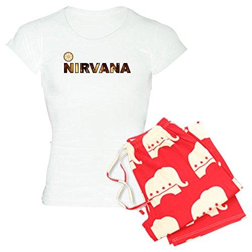 CafePress-Nirvana Damen leichte Schlafanzüge-Damen Neuheit Baumwolle Pyjama Set, bequemen PJ Nachtwäsche Gr. Small, with Republican Pant -