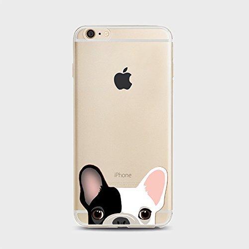Coque iPhone 7 Plus Housse étui-Case Transparent Liquid Crystal Chiens en TPU Silicone Clair,Protection Ultra Mince Premium,Coque Prime pour iPhone 7 plus (2016)-style 4 Chiens-1