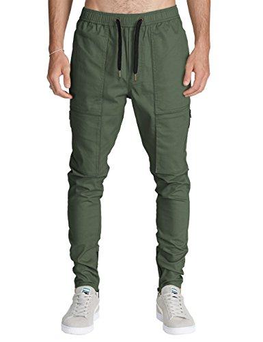 ITALY MORN Homme Pantalon Cargo Sarouel Jogger Pants Jogging Sport Pantalons Chino Slim Fit Rouge Skinny Casual Harem Noir (XL, Bourgogne)