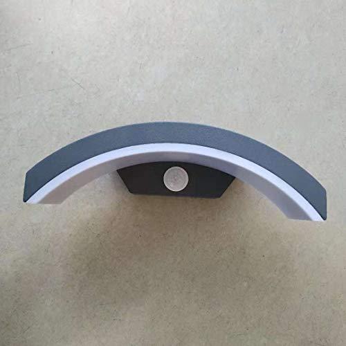 Topmo-plus 24W LED Wandspot außenlampen wandleuchte Aluminium/PC mit Bewegungsmelder IP65 Wasserdicht/Osram SMD/Downlight Terasse/Garden/ Korridor/Flur 27CM anthrazit 3000K warmweiß