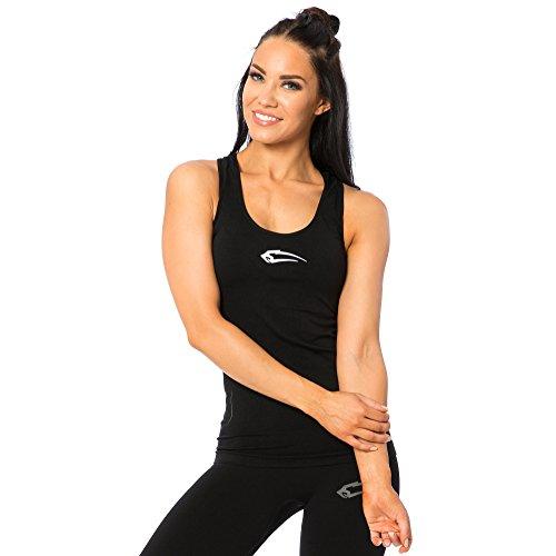SMILODOX Sport Tank Top Damen | Seamless - Trainingsshirt ideal für Gym Fitness & Workout | Ärmelloses Sport T-Shirt - Bequemer Schnitt - Sporttop - Unterhemd, Farbe:Schwarz, Größe:S (Workout-muskel-t-shirt)