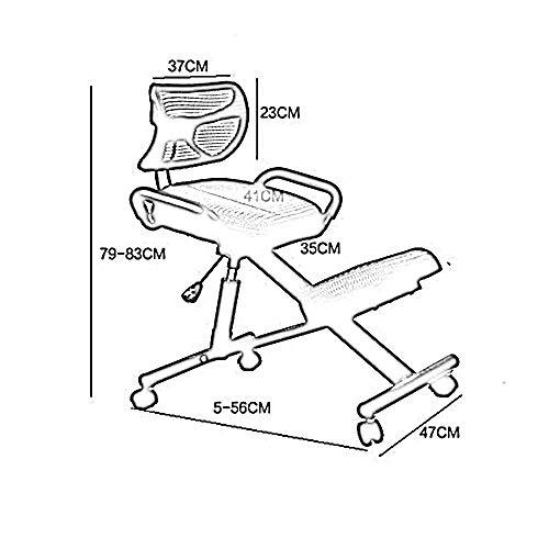YIZ Stühle Moderne Möbel Heim Rückenlehne Computer Stahl Einstellbare Schrift Erfüllt die Ergonomie Richt Student 5 Farben erhältlich,4