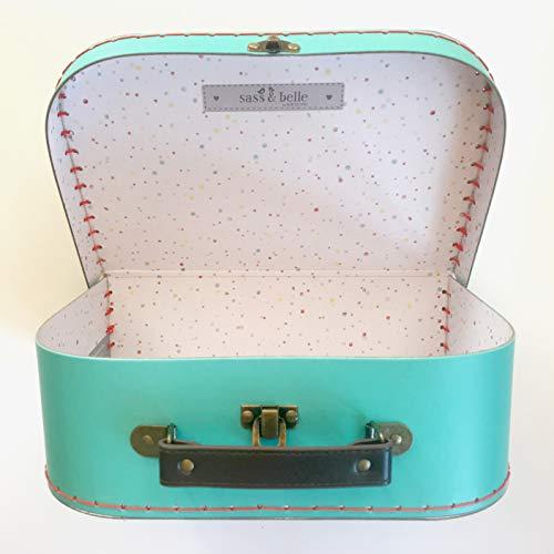 Sass and Belle Koffer/Kinderkoffer/Puppenkoffer/Aufbewahrungsbox. Pappkoffer, 3 Verschiedene Größen. (Retro Bunt, Mittel)