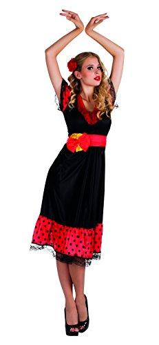 hsenenkostüm Flamenco Woman, schwarz (Flamenco Kostüme Halloween)