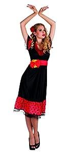 Boland Español Flamenco señoras vestido de lujo de la señorita Rumba bailarín para mujer del traje del equipo (Mujeres: 8-10)