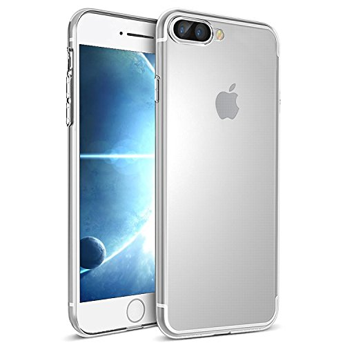 Funda iPhone 7 Plus, iPhone 8 Plus Funda , Ubegood iPhone 7/ iPhone 8 Plus Funda Carcasa Case Bumper [Anti-Arañazos] Slim Silicona Case para iPhone 7 Plus/iPhone 8 Plus Cover -Transparente