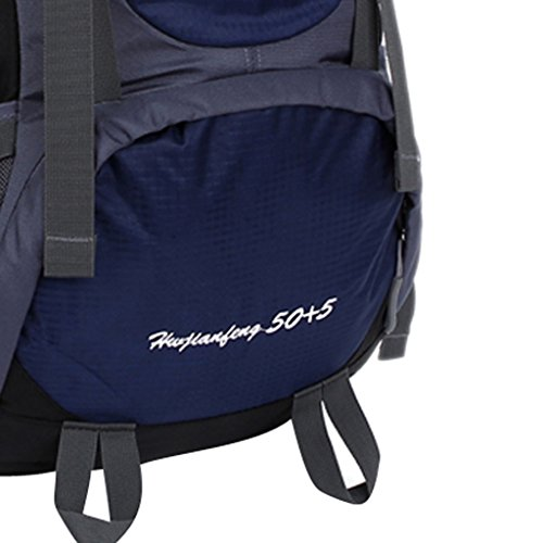 Generic Viaggiare Sport All'aria Aperta Alpinismo Trekking Escursionismo Impermeabile Zaino Borsa sacchetto - Blu scuro Blu scuro