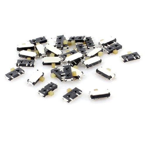 30pcs 2Position 7Pin 1P2T SPDT Horizontal Mini SMD SMT Schiebeschalter -