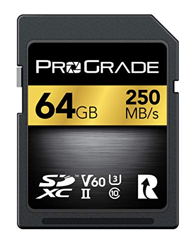 SD-Karte V60 (64GB) - Bis zu 130 MB / s Schreibgeschwindigkeit und 250 MB / s Lesegeschwindigkeit | Für professionelle Vlogger, Filmemacher, Fotografen und Content-Kuratoren - Von Prograde Digital