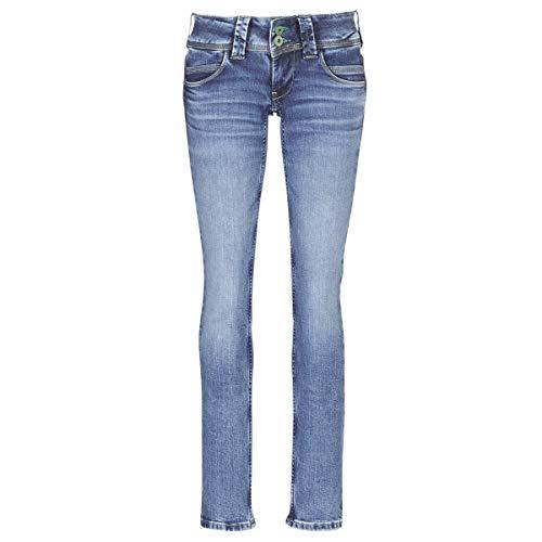 Pepe Jeans Venus Toile Brut Jeans Damen Blau - DE 40 (US 32/32) - Straight Leg Jeans