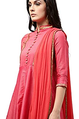 Rain and Rainbow Women's A Line Cotton Salwar Suit (Pack of 3)