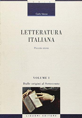 Letteratura italiana. Piccola storia: 1