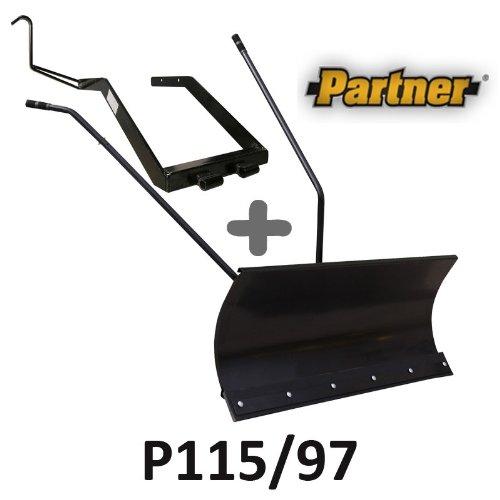 Lame à Neige 118 cm Noire + adaptateur pour Partner P115/97
