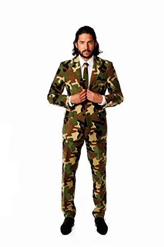 225f920866 opposuits Commando Army Suit Fancy Dress Stag Night EU56 Costume