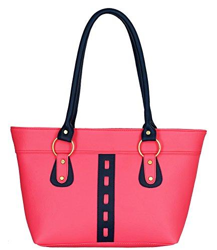 Fristo Women's Handbag (Pink and Blue)