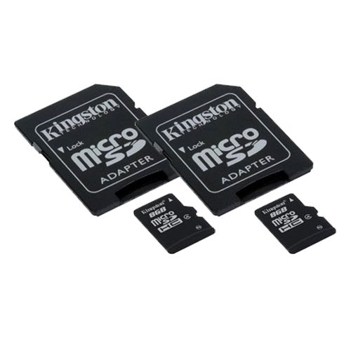 Samsung Galaxy S3 Cell Phone Memory Card 2 x 8GB microSDHC Memory Card with SD Adapter 2 Pack