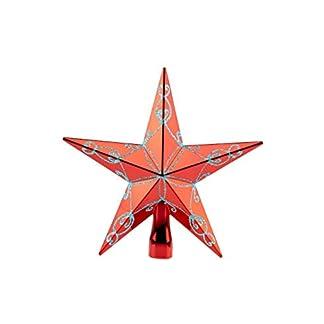 Clever-Creations-Weihnachtsbaumspitze-glitzernder-Stern-Festliche-Weihnachtsdeko-bruchsicherer-Kunststoff-fr-Weihnachtsbume-jeder-Gre-Rot-203-cm