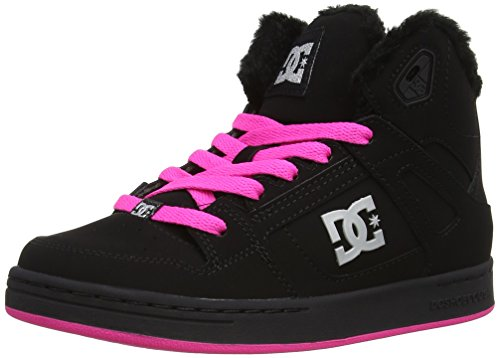 DC Shoes - Scarpe a collo alto Rebound WNT G, Bambino Nero (Black/Crazy Pink)