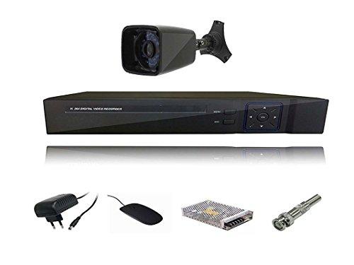 Navkar Combo Kit :1 Pc Outdoor Night Vision Cctv Camera + 4 Ch. Navkar Dvr