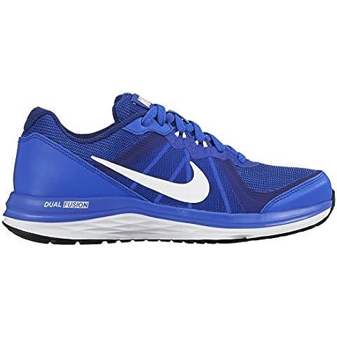 Nike Dual Fusion X 2 (Gs) Scarpe da corsa, Bambini e ragazzi, Multicolore (Black/White-Dark Grey), 37 1/2