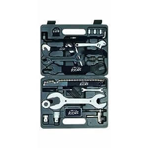Point 29267501 - Caja de herramientas para bicicleta (36 piezas), color negro y plateado