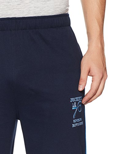 243a33e0d5e1 ... Jockey Men s Cotton Track Pants (8901326105351 9508 L Navy and Neon  Blue) ...