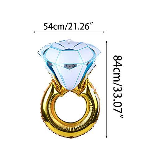 1 globo hinchable con forma de anillo de diamante