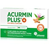60x Kurkuma Kapseln hochdosiert von Acurmin PLUS® - Das Mizell-Curcuma: mit Vitamin D3, ohne Piperin. Hergestellt in Deutschland