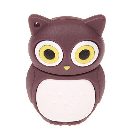 TOOGOO(R) USB-Laufwerk 2.0 16 GB Kapazitaet Flash-Speicherform OWL Kaffee