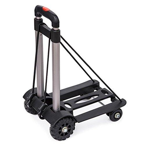 GAYY Falten Hand-LKW, 50 Kg / 110 Lbs Heavy Duty 4-Rad Solid Bau Utility Cart Save Kompakt und Leicht für Gepäck LKW (Rad Bau)