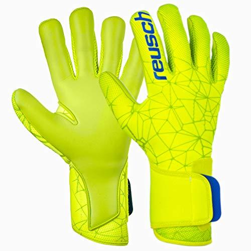 Reusch Herren Pure Contact S1 Torwarthandschuhe, Lime/Safety Yellow, 11 -